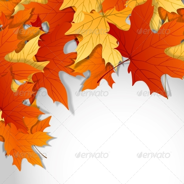 GraphicRiver Autumn Leaves Background 6138495