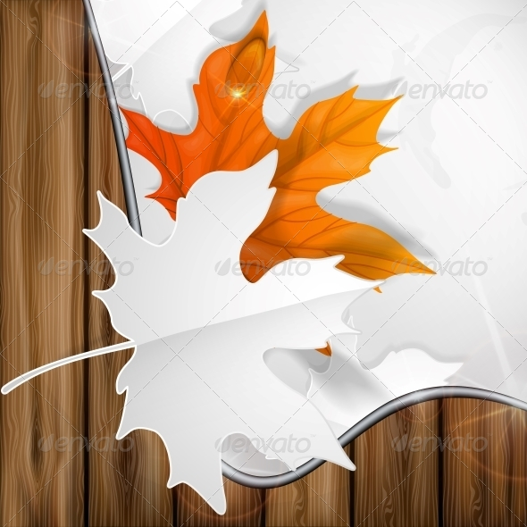 GraphicRiver Autumn Leaves Background 6138507