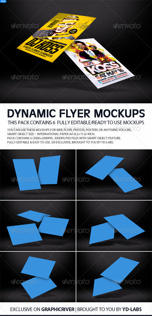 Dynamic Flyer Mockups V2 - Miscellaneous Displays