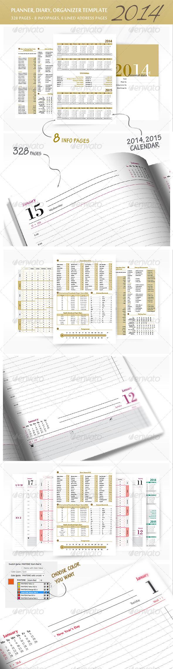 GraphicRiver Planner-Diary-Organizer 2014 v2 6138588