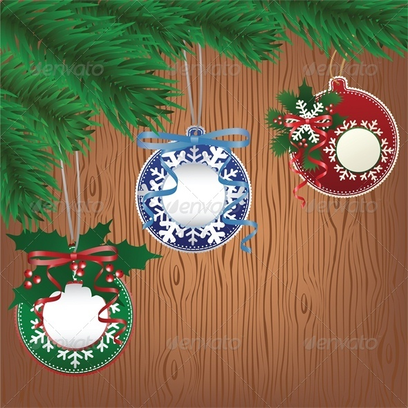 GraphicRiver Christmas Paper Bauble on Tree 6138598