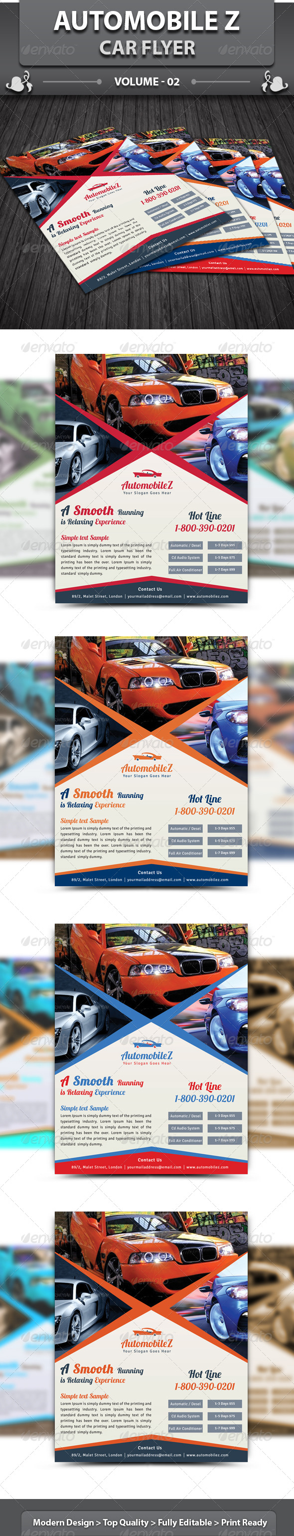 GraphicRiver AutoMobileZ Car Flyer v2 6138618