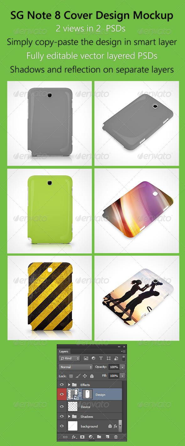 GraphicRiver SG Note 8 Cover Design Mockup 6138812