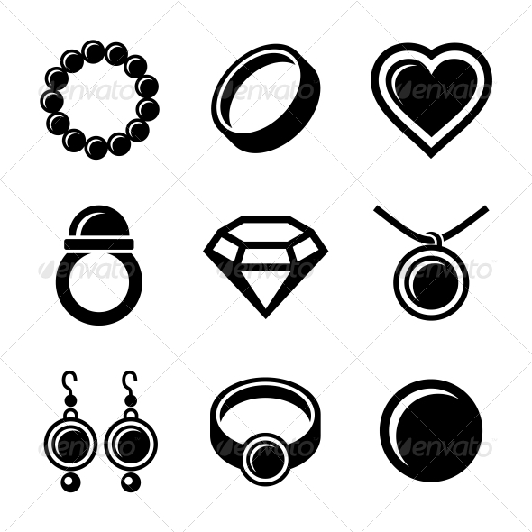 GraphicRiver Jewelry Icons Set 6138906