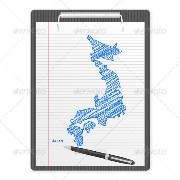 GraphicRiver Clipboard Japan Map 6139684