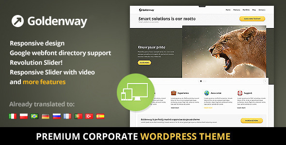 Goldenway - Premium Wordpress Theme