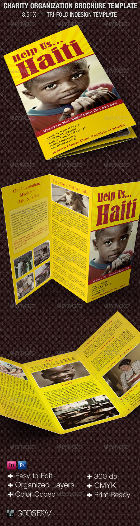 GraphicRiver Charity Organization Brochure Template 6136178