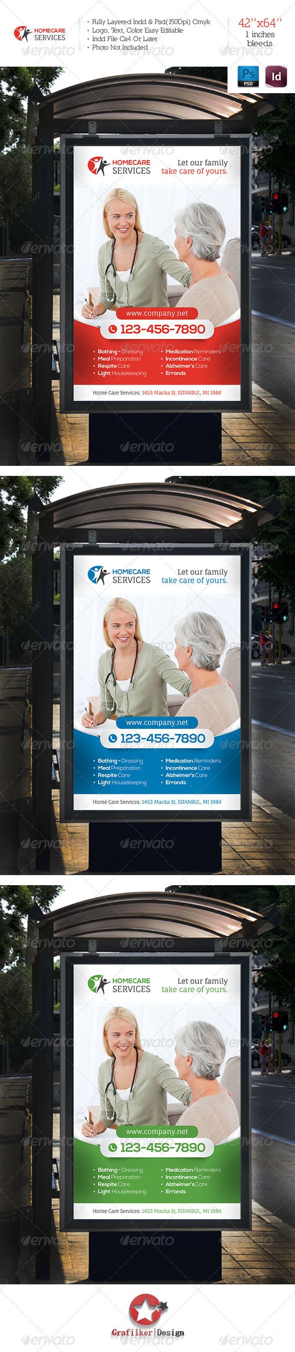 GraphicRiver Home Care Services Banner Template 6138306