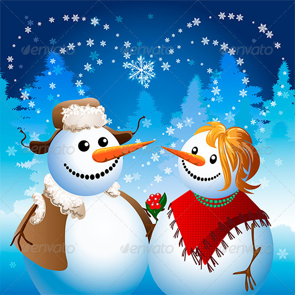 GraphicRiver Snowman on Date 6140225