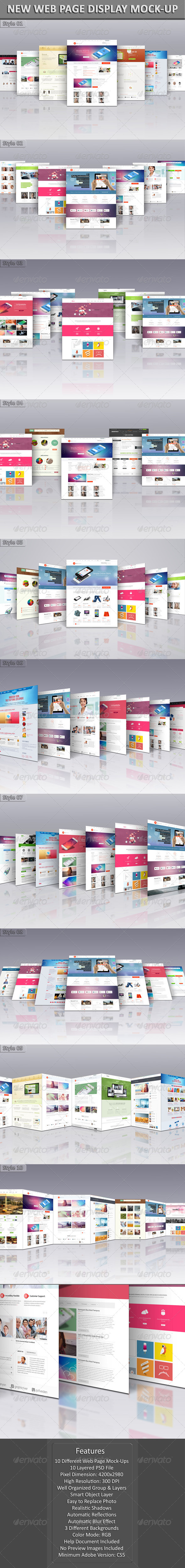 GraphicRiver New Web Page Display Mock-Up 6140496