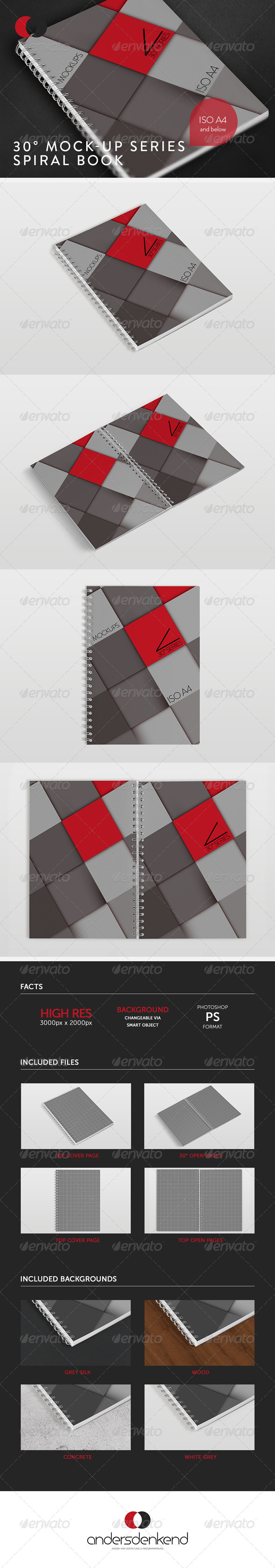 GraphicRiver Mock-Up 30Ўг Series Spiral Book 6141027