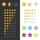 Rating Stars Set. Vector - GraphicRiver Item for Sale