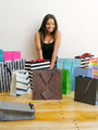 Shopaholic with all her shopping bags - PhotoDune Item for Sale