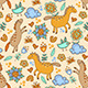 Seamless Pattern with Horses - GraphicRiver Item for Sale