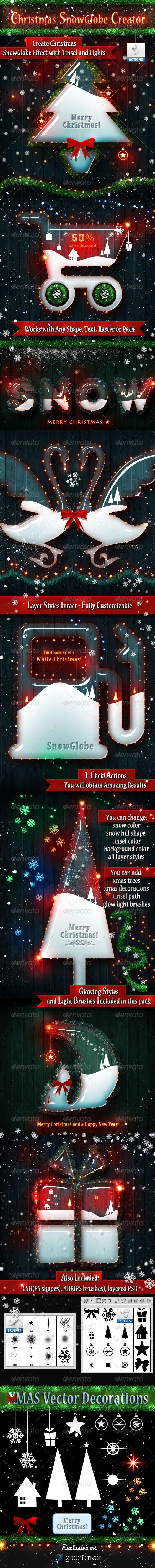 GraphicRiver Christmas Snow Globe Photoshop Creator 6143379