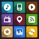 Multimedia Flat Icons Set  1 - GraphicRiver Item for Sale