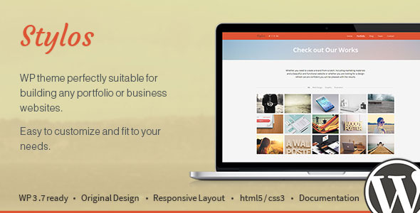 Stylos - One Page Responsive Wordpress Theme