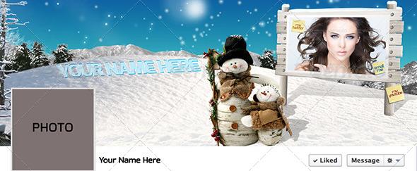 GraphicRiver Winter Facebook Timeline PSD 6144920