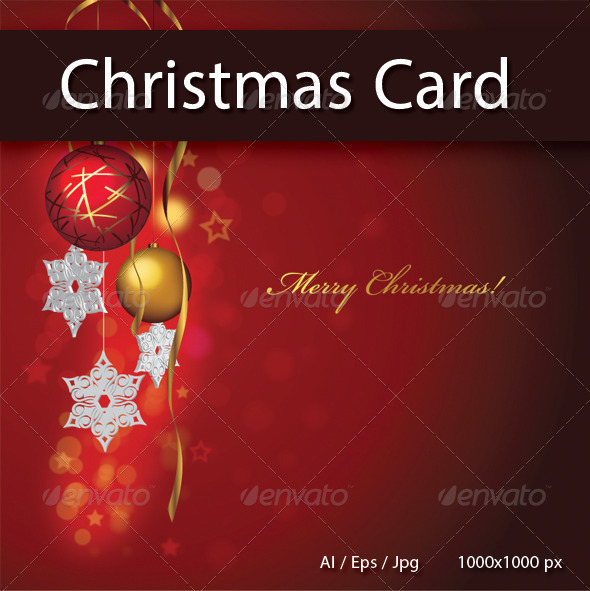 GraphicRiver Merry Christmas Card 6143501