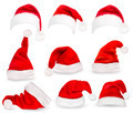Collection of red santa hats.  - PhotoDune Item for Sale