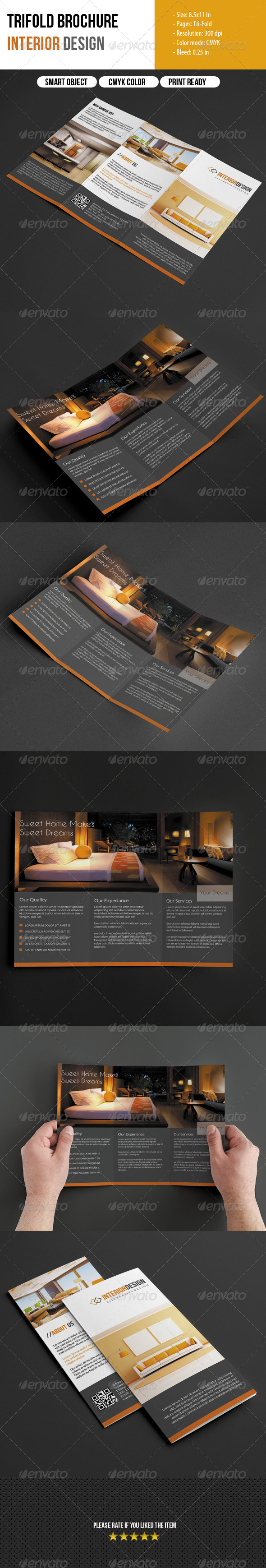 GraphicRiver Trifold Brochure for Interior Design 6146541