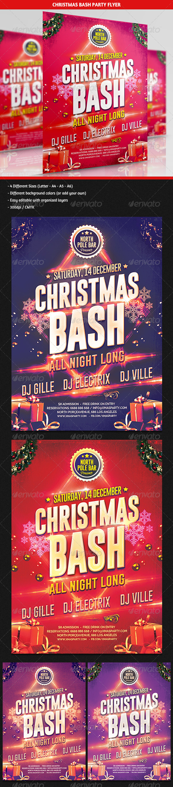 GraphicRiver Christmas Bash Party Flyer 6109201
