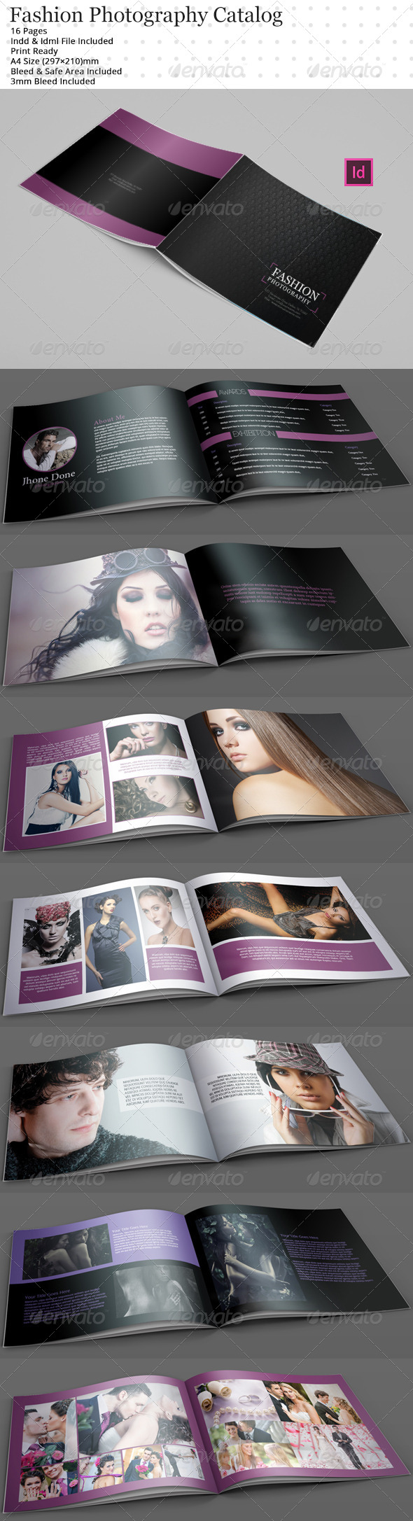 GraphicRiver Fashion Photographic Catalog Brochure Templates 6109994