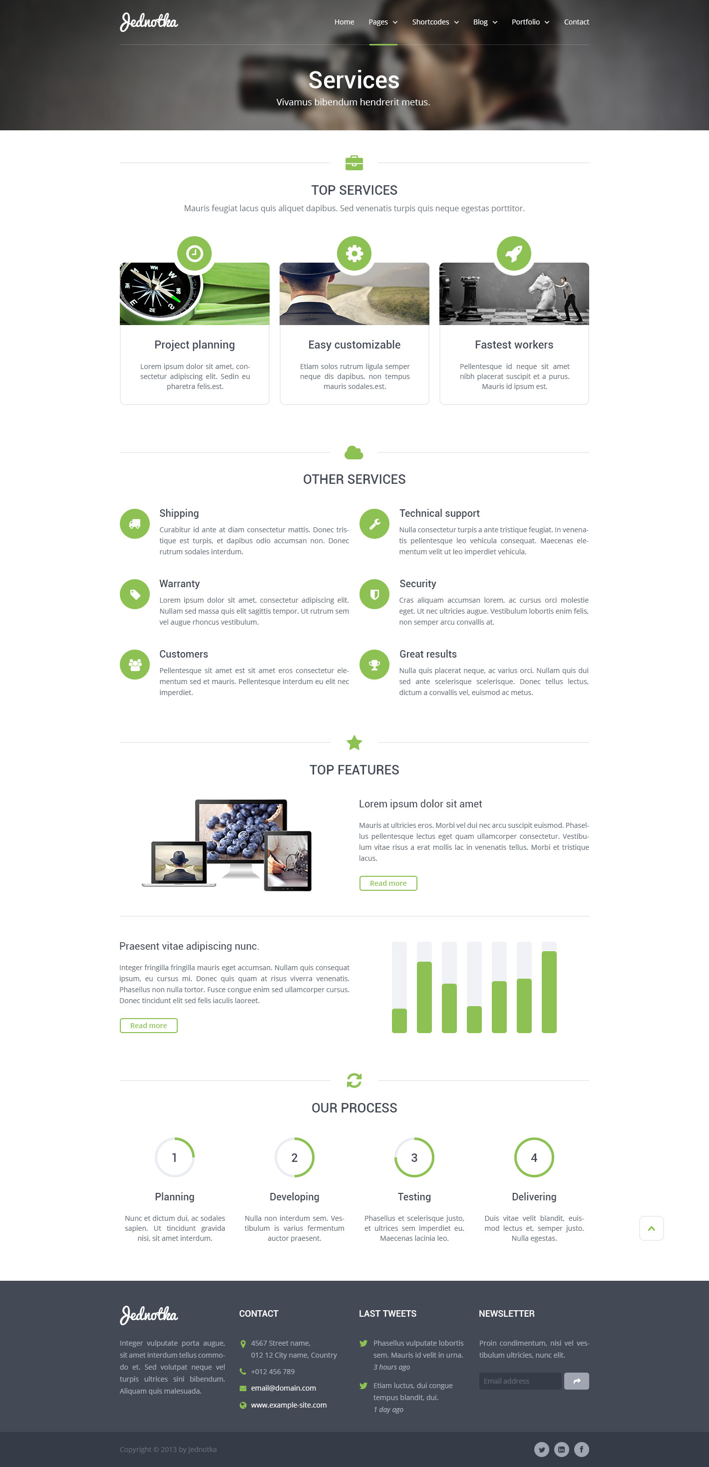 Jednotka - Multipurpose Website PSD Template
