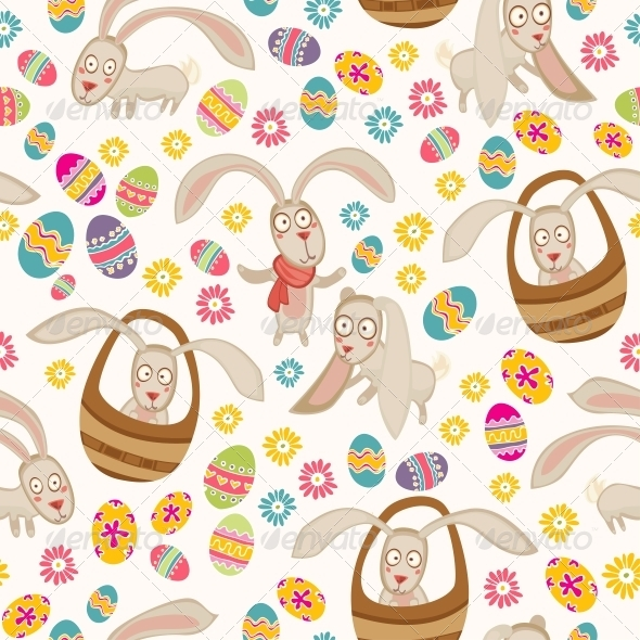GraphicRiver Easter Pattern with Bunny 6147174