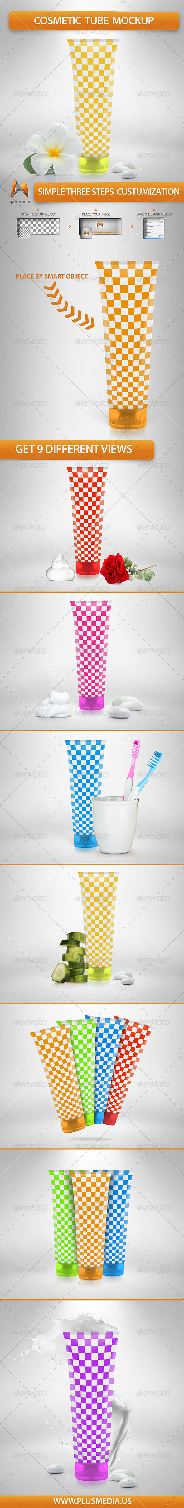 GraphicRiver Cosmetic Tube Mockup 6147539