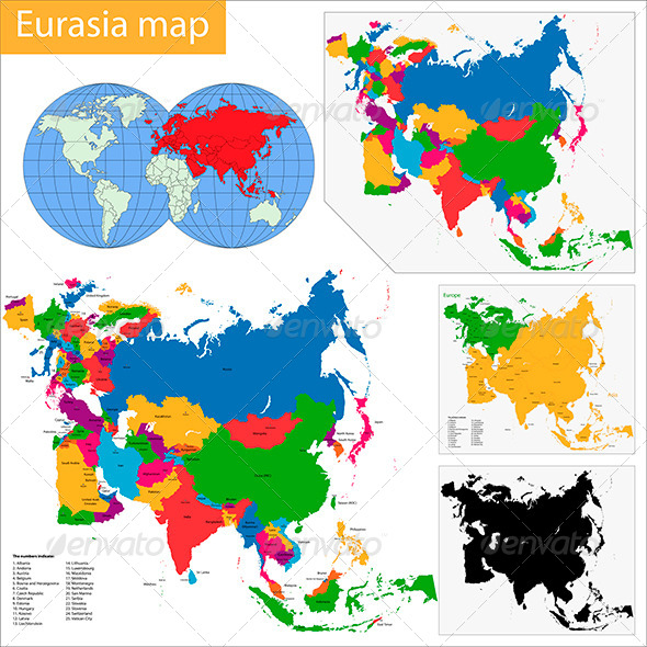 GraphicRiver Eurasia Map 6147907