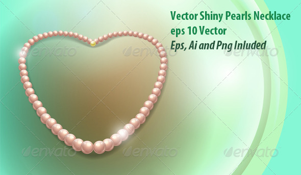 GraphicRiver Pearls Necklace 6148244