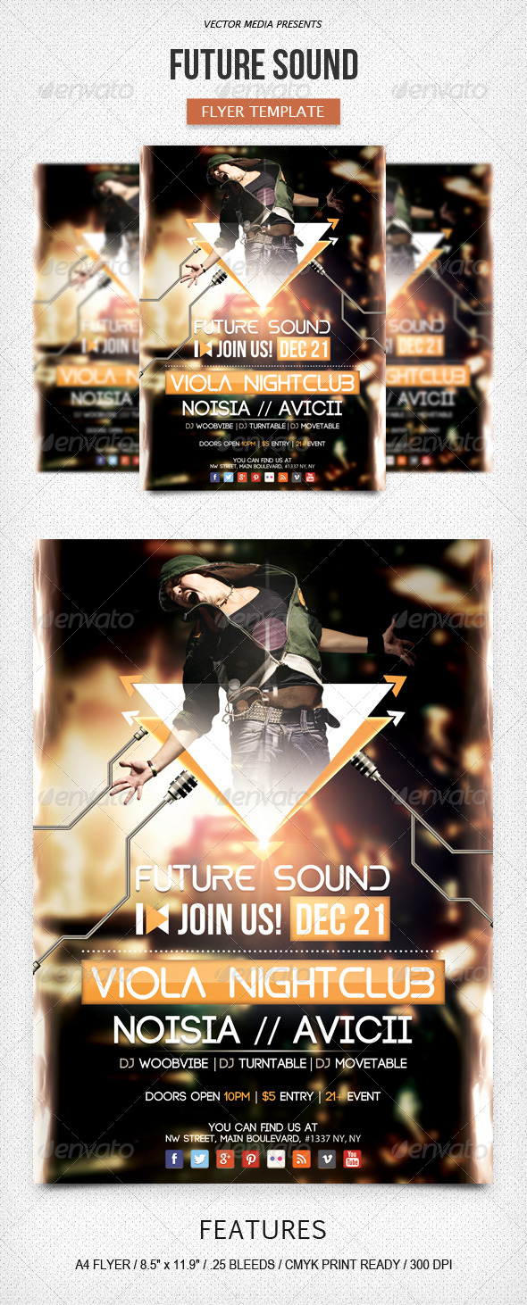 GraphicRiver Future Sound Flyer 6148359