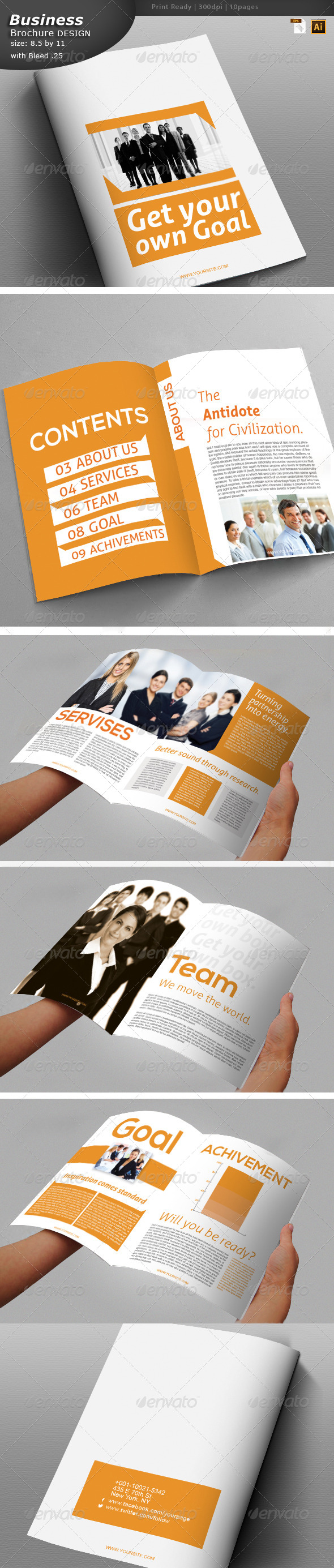 GraphicRiver Office Brochure Design 6111432
