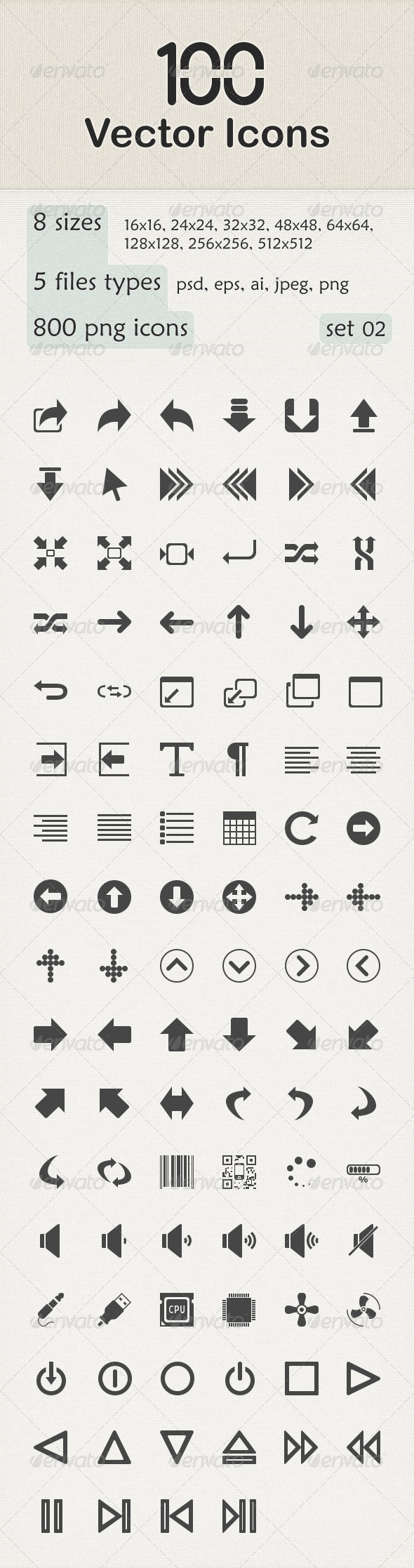GraphicRiver 100 Vector Icons 6149358