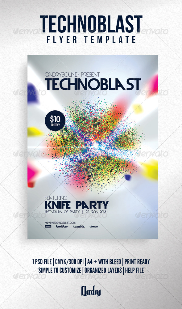GraphicRiver Technoblast Flyer Template 6149541
