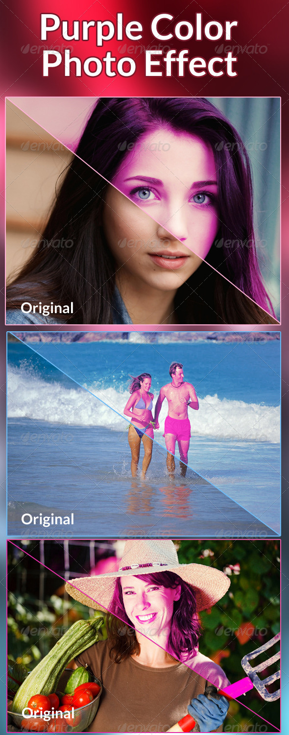 GraphicRiver Purple Color Photo Effect 6149552