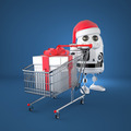 Robot Santa with shopping cart - PhotoDune Item for Sale