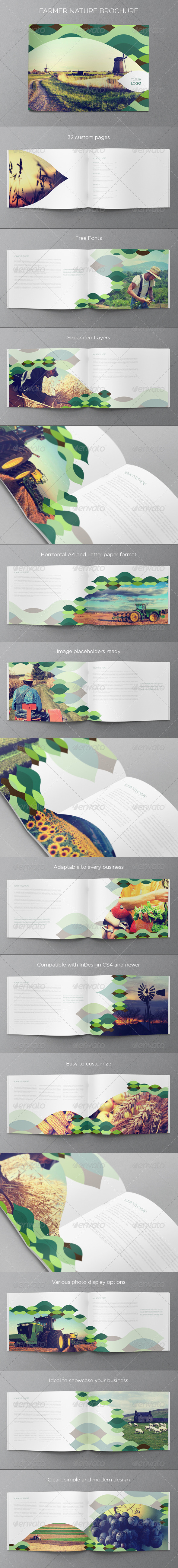 GraphicRiver Green Nature Brochure 6151806