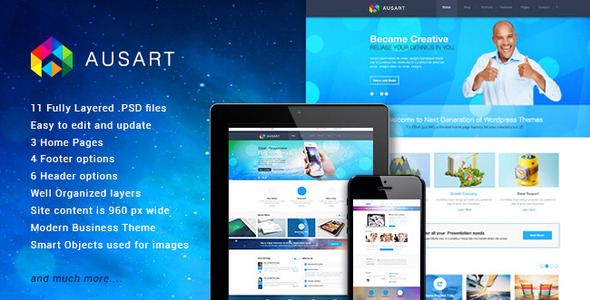 Ausart Multi-Purpose Theme Psd Theme - Corporate PSD Templates