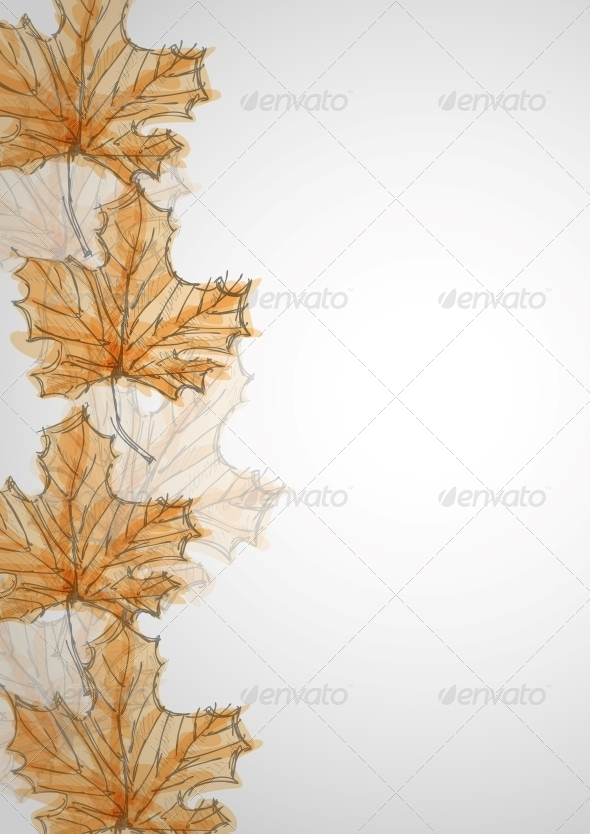 GraphicRiver Hand Drawn Autumn Background 6153091