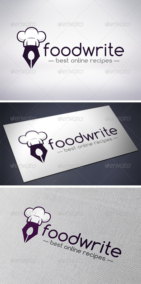 GraphicRiver Recipe Writer Logo 6154144