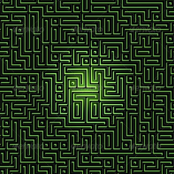 GraphicRiver Labyrinth Maze Background 6155493