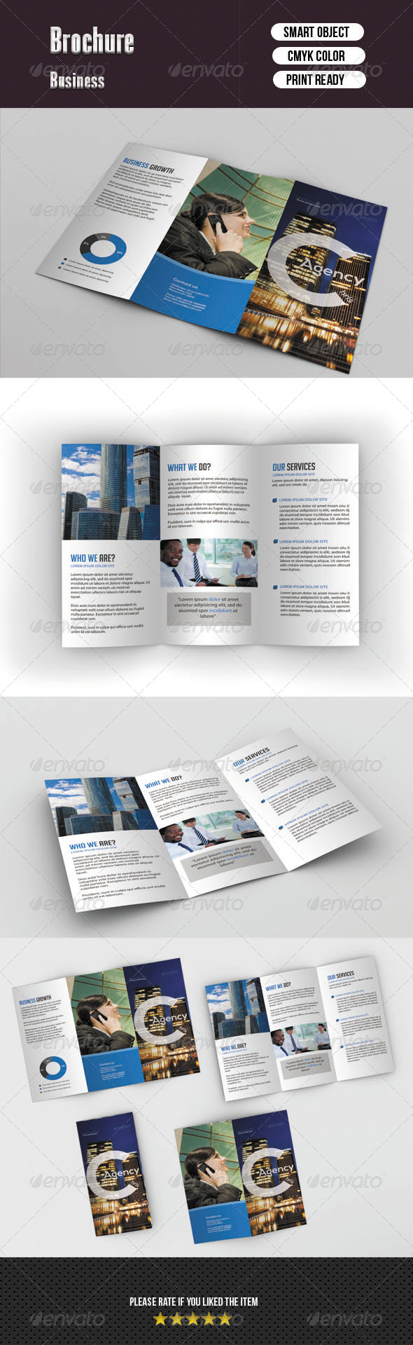 GraphicRiver Tifold Brochure-Business 6155632
