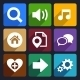 Multimedia Flat Icons Set 4 - GraphicRiver Item for Sale