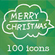 Hand Drawn Christmas Icons - GraphicRiver Item for Sale