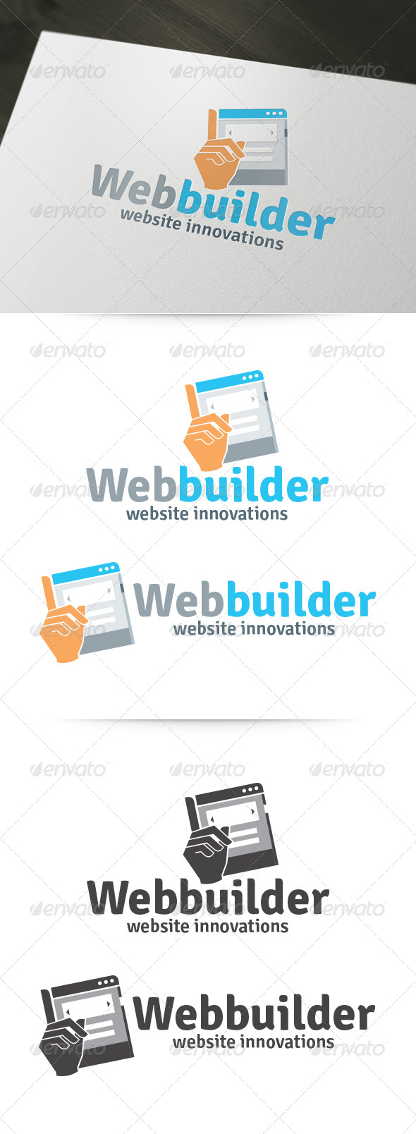 logo template graphicriver web builder logo 6156701. Black Bedroom Furniture Sets. Home Design Ideas