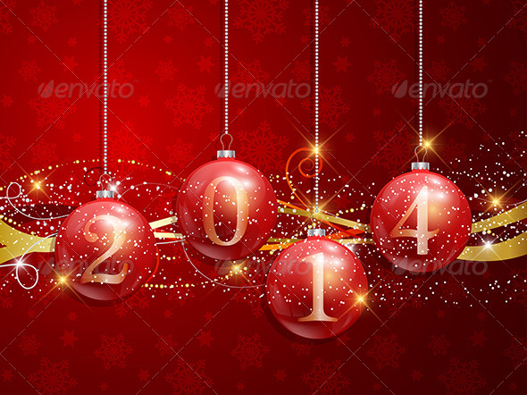 GraphicRiver New Year Baubles Background 6156922