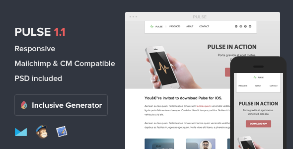 Pulse - Responsive Email With Template Builder - Email Templates Marketing