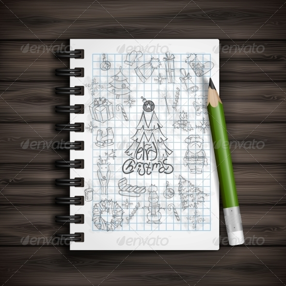 GraphicRiver Hand Drawn Christmas Set 6157828